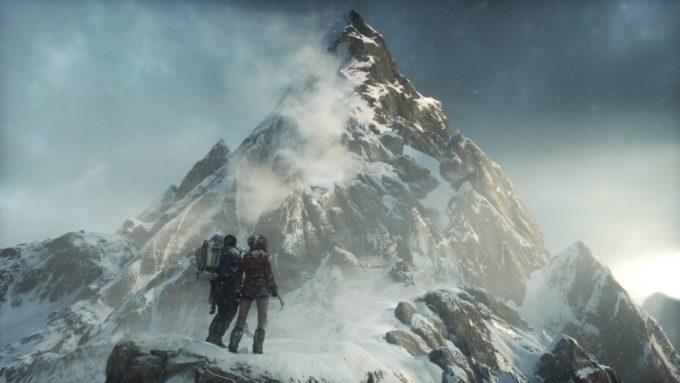 冒頭の雪山