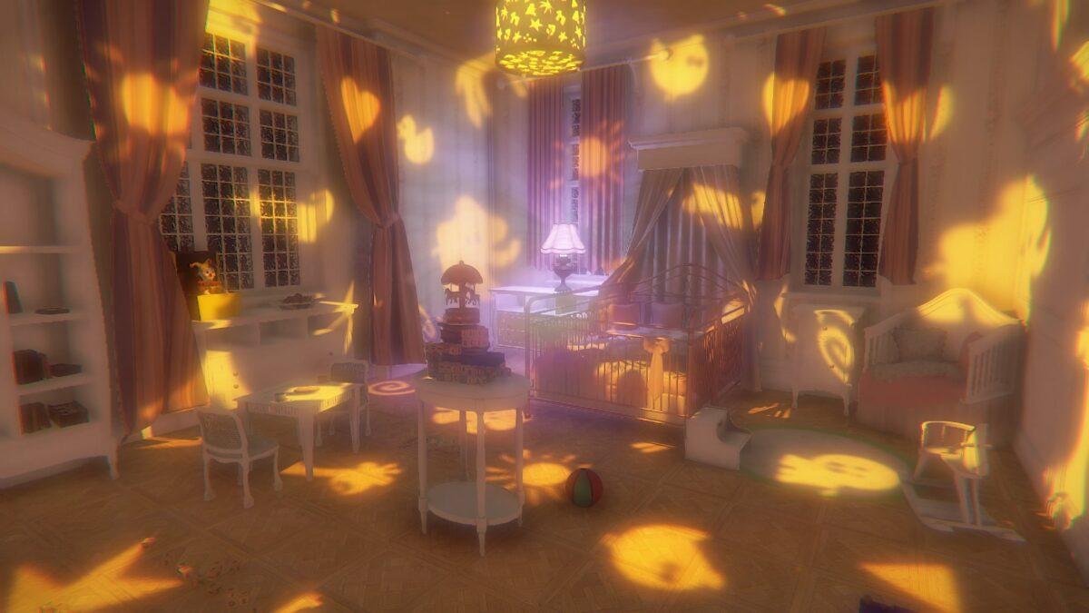 子供部屋は明るいが…